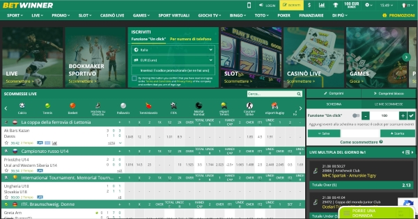 Betwinner Italia scommesse online